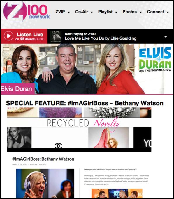 Recycled-Novelty-#ImAGirlBoss-Bethany-Watson-Elvis-Duran-z100-Press copy